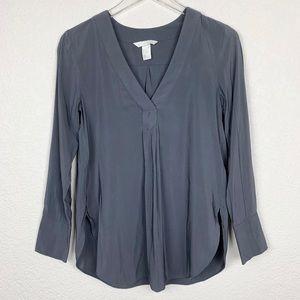 ⭐️2/$25 | H&M Conscious Grey Flowy Blouse Top 2